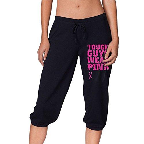 Women's Tough Guys Wear Pink Cropped Trousers,Dance Harem Pants Casual Sport Sweatpants