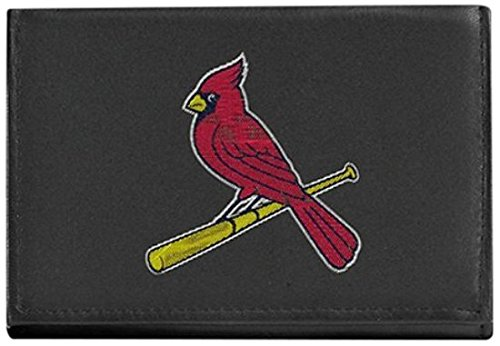 Louis Wallet Cardinals - MLB St. Louis Cardinals Embroidered Genuine Cowhide Leather Trifold Wallet