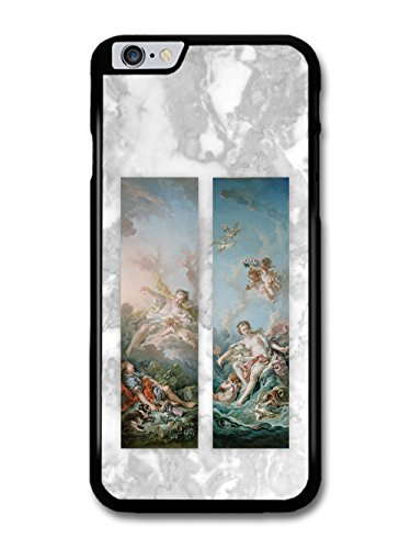 Classic Vintage Paintings on Cool Goth Grunge Marble Effect case for iPhone 6 Plus 6S Plus