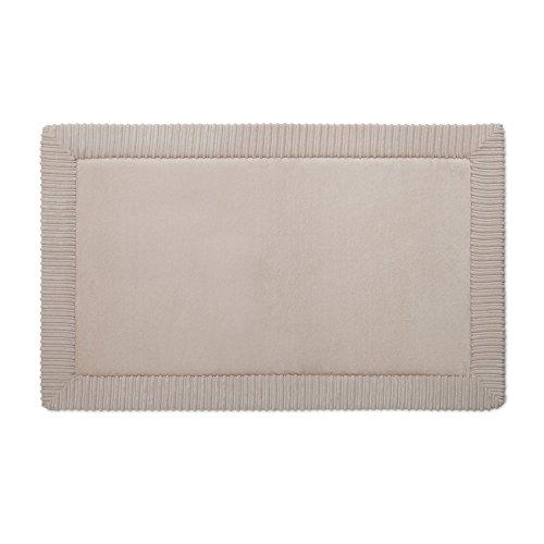 allen + roth Romanesque Border 34-in x 21-in Tan Polyester Memory Foam Bath Mat Model # 10603