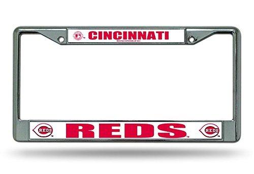 - New Eletina Design Red Big Plates MLB Chrome License Plate Framecincinnati Reds Shop