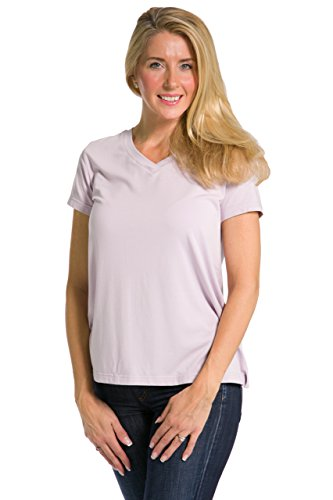Fishers Finery Women's Ecofabric Short Sleeve V-Neck Tee; Relaxed Fit (Lvndr, M)