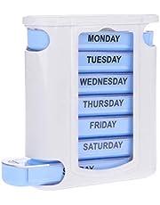 علبة تنظيم حبوب الدواء محمولة مكونة من 28 خلية، مقاومة للرطوبة وسريعة الملء، لتنظيم حبوب الادوية لمدة 7 ايام