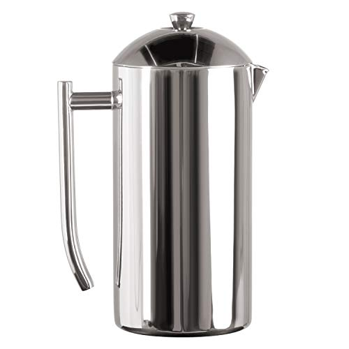 Frieling 0130 French Press Cafetera de émbolo acero inoxidable pulido de doble pared 44 fl.oz. 1300 ml