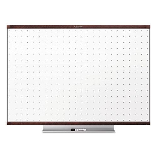 Quartet Dry-Erase Whiteboard, w/Marker/Tray, 4'x3', Mahogany Frame by Quartet