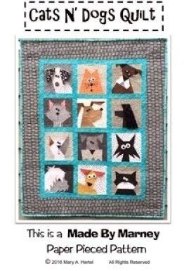 Made by Marney Paper Pieced Quilt Pattern - Cats N Dogs (33
