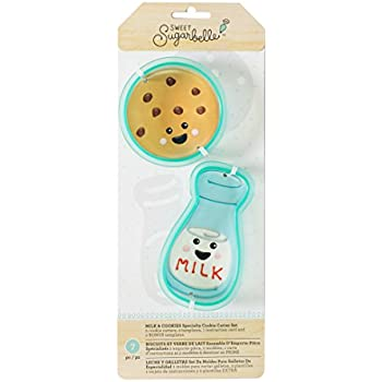 American Crafts Sweet Sugarbelle Cookie Cutter Set We Go Together Milk & Cookie 7 Piece