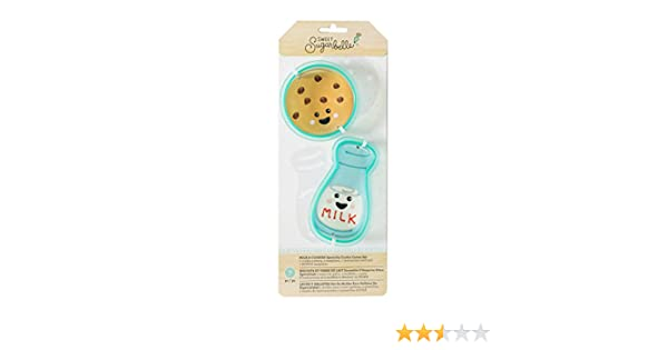 Amazon.com: American Crafts Sweet Sugarbelle Cookie Cutter Set We Go Together Milk & Cookie 7 Piece: Arts, Crafts & Sewing