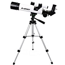 SVBONY 60mm Astronomy Telescope for Beginners and Kids Refractor Travel Scope with Aluminum Tripod and Cell Phone Adapter