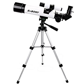 SVBONY Refractor 60mm Astronomy Telescope for Kids Beginners Entry Level Amateur Astronomer Star Gazing Bird Watching Travel Scope with Aluminum Tripod