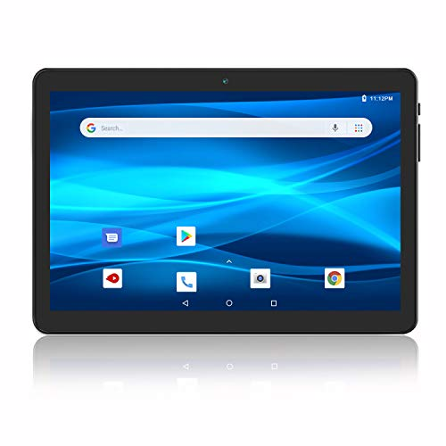 Android Tablet 10 Inch, 3G Phablet, Android 9.0 Tablets, 32GB Storage, GMS Certified, Dual SIM Card Slot and Cameras, 2.4G WiFi, Bluetooth – Black