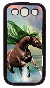 Young Horse Custom Case Cover for Samsung Galaxy S3 / SIII / I9300 - Polycarbonate - Black