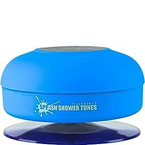 Splash Tunes - Waterproof Bluetooth Wireless Portable Shower Speaker by FRESHeTECH, Blue