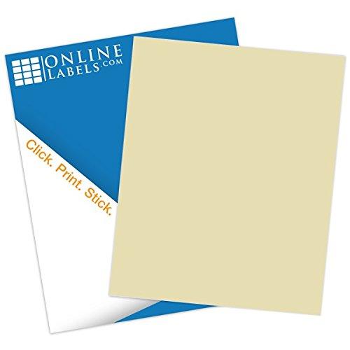 Light Tan Sticker Paper - 100 Sheets - 8.5
