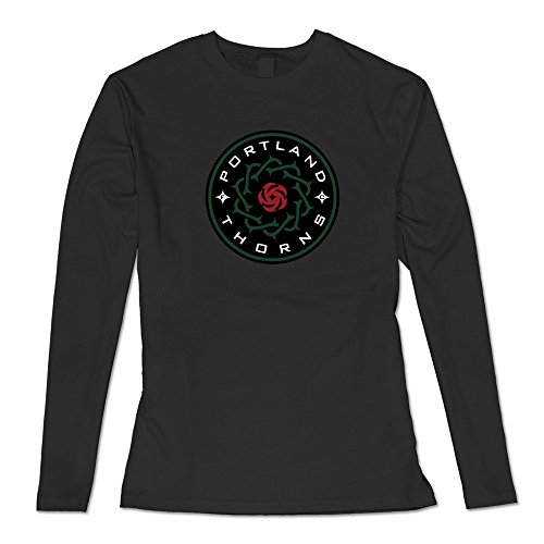 Flycat Soccer Portland Thorns FC Logo Rose T Shirt For Women's