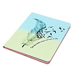 iPad Pro Case, Dteck(TM) Colorful Painting Design Flip Stand Case with [Cards Slots&Money Holder] Full Body Protective Smart Cover for Apple iPad Pro 12.9 inches iOS 9 Tablet (02 Feather&Birds)