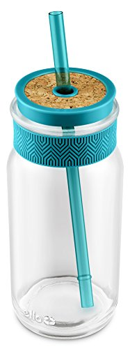 Ello Kella BPA Free Glass Sipper with Straw, 20 oz.