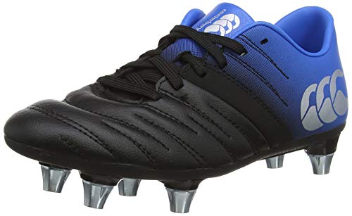 Canterbury Phoenix 2.0 Soft Ground Junior Rugby Boots, Black, Age 2