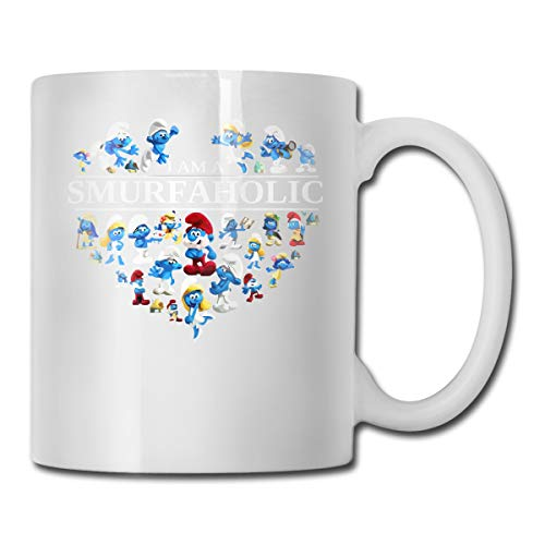 (I Am A Smurf Aholic CUPS 11OZ Printed Design Funny Coffee Mug Tee Cup)