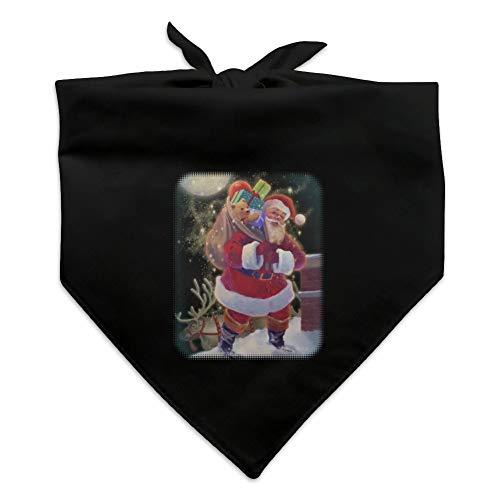 (GRAPHICS & MORE Christmas Holiday Santa Chimney Magic Dog Pet Bandana - Black)