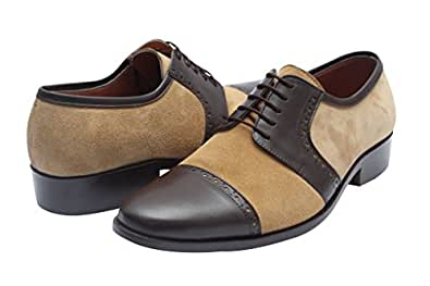 Mens Formal Dartmoor (Light Brown) Modern Real Leather Shoes_9.5""