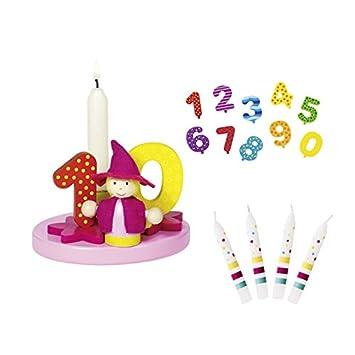 Goki - Juego de cumpleaños niña cumpleaños números 1 A 9 + 0 ...