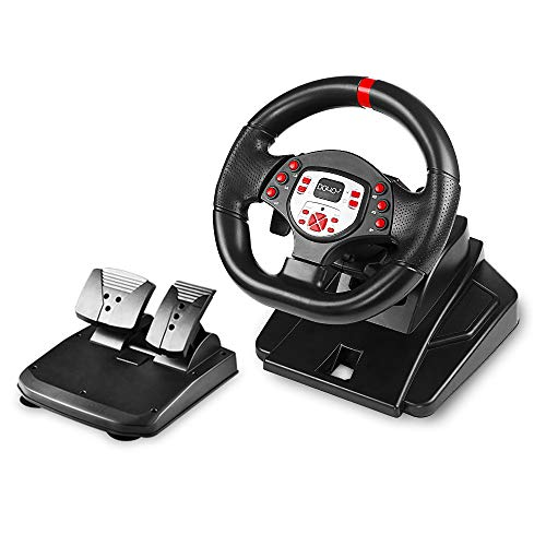 DOYO Pro Sport Steering Racing Wheel for PS4/PS3/SWITCH/PC/Android, Plug and Play (Best F1 Steering Wheel Ps3)