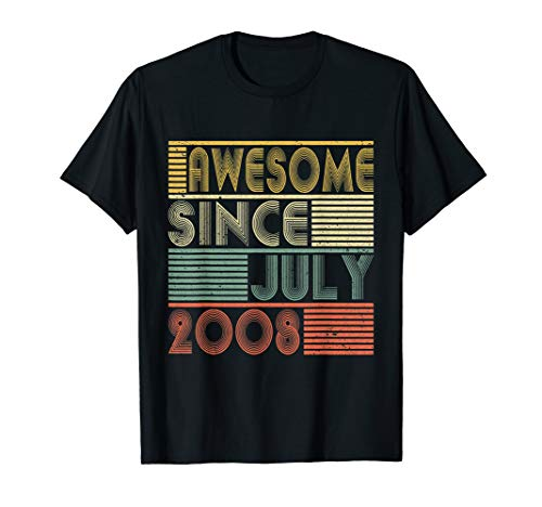 Awesome Since July 2008 Shirt 11th Birthday Gifts 11 Yrs Old