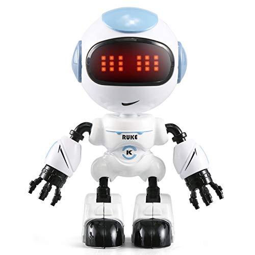 HermosaUKnight JJR R8 Touch Sensing LED Eye RC Robot Smart Voice DIY Corps Gesture Modèle Jouet-Bleu