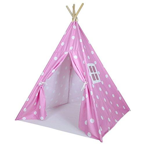 Pink Polka Dot Kids Teepee Tent