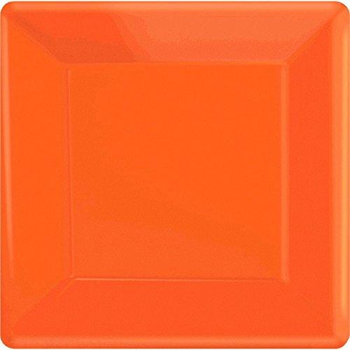 (Orange Peel Square Paper Plates   10
