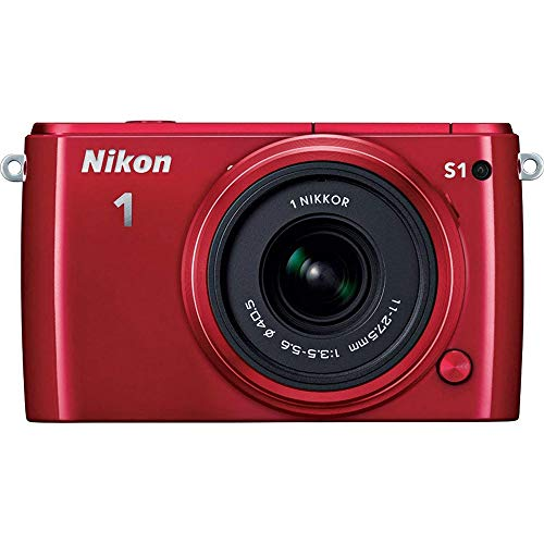 Nikon 1 S1 10.1MP Red Digital Camera with 11-27.5mm Lens ()