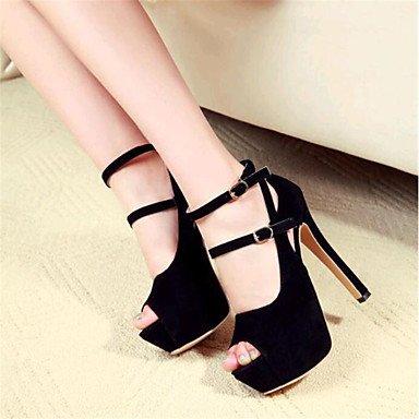 LvYuan-ggx Damen-High Heels-Outddor Heels-Outddor Heels-Outddor Büro Lässig-Wildleder-Stöckelabsatz-formale Schuhe Club-Schuhe- 113425