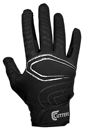 (Cutters Gloves Youth REV Receiver Glove (Pair), Black,)