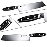 TUO Kiritsuke Knife - 8 inch Kiritsuke Chef Knife - Japanese Vegetable Meat Knife - German HC Steel - Full Tang Pakkawood Handle - BLACK HAWK SERIES with Gift Box