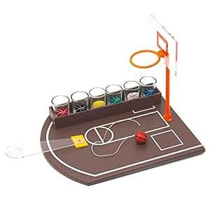 Juego mesa baloncesto para beber + 6 vasos chupito
