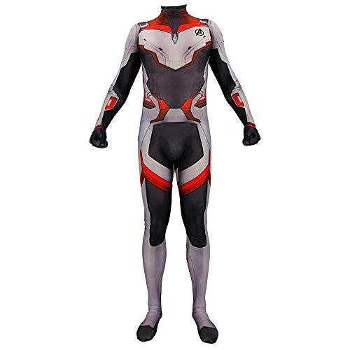 Lycra Spandex Bodysuits Endgame Quantum Realm Tech Suits Superhero Cosplay Costume Adult Size -