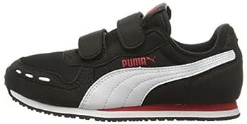 Puma Cabana Racer Mesh V Kids Sneaker (Toddlerlittle Kidbig Kid), Black White, 1.5 M Us Little Kid 4