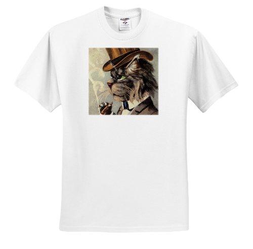 TNMPastPerfect Animals Cats - Top Cat Smoking - T-Shirts - Adult T-Shirt Medium (ts_172541_2)