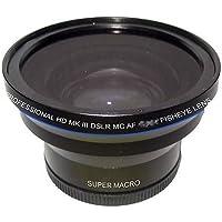 Fisheye Lens for Sony DCR-VX2000, Sony DCR-VX2100, Sony DSR-PD170, Sony DSR-PD170P, Sony DSR-250
