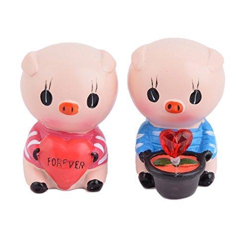 eDealMax Rsine Mariage Anniversaire Cochon Craft Design Table Cadeau de Bureau Ornement Dcor 2 en 1