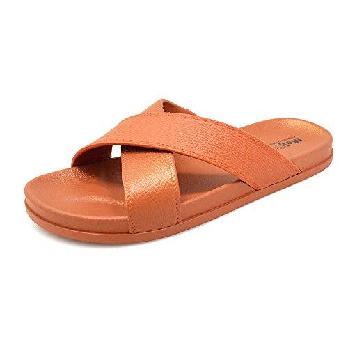 KENROLL Summer Soft Shower Slide Beach and Pool Flip Flop Slippers Non-Slip Shoes Sandals for Womens for Mens Camel 5wmFLzV2qJ