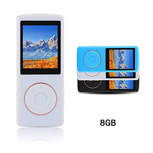 Ultrave Portable 8GB MP3 Player MP4 Player Hi-Fi Sound Music Player (White007)