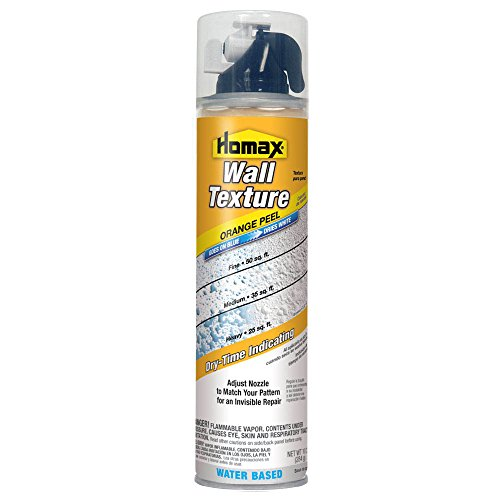 Wall Texture Goes On Blue/Dries White, 10 oz, Orange Peel, Water Based Aerosol Wall Texture