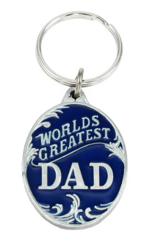 Siskiyou Automotive Metal Key Chain World's Greatest Dad Enameled Details