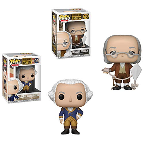 Funko Pop!: American History Icons Bundle of 2 - Benjamin Franklin and George Washington