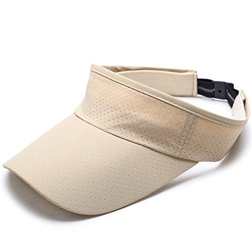 Prettyever Trendy Summer Baseball Cap Empty Top Hats For Men or Women Visor Caps Snapback Trucker Hat Beige by Prettyever Baseball-caps (Image #1)