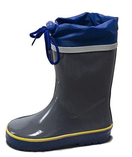 20972dc4c86b29 Kinder Gummistiefel Regenstiefel Stiefel Kinderstiefel Schuhe Grau Blau Gr.  27