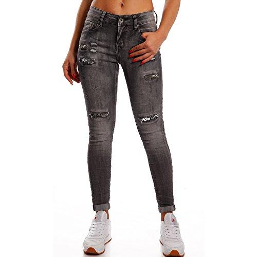 Anthrazit Basic Donna fashion Jeans Young Skinny qxXPz6w7