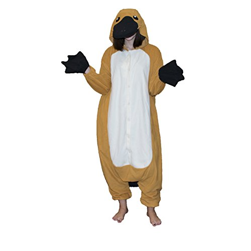 Platypus Kigurumi,Brown,Adults